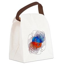 FIre and Ice Phoenixes Canvas Lunch Bag