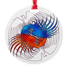 FIre and Ice Phoenixes Ornament