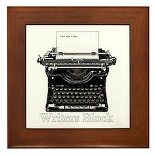 Writers Block-Typewriter Framed Tile