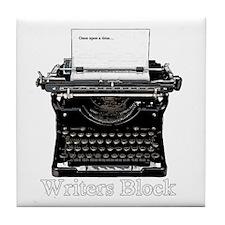 Writers Block-Typewriter Tile Coaster