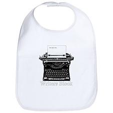 Writers Block-Typewriter Bib