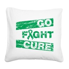 Liver Cancer Go Fight Cure Square Canvas Pillow