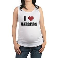 I love Harrison(Black) Maternity Tank Top