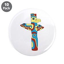 "Alaskan Totem Pole 3.5"" Button (10 pack)"