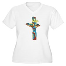 Alaskan Totem Pole Plus Size T-Shirt