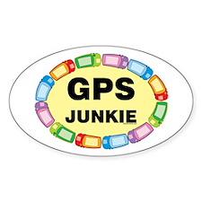 GPS Junkie Oval Decal