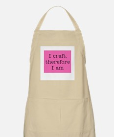 I Craft Therefore I Am BBQ Apron