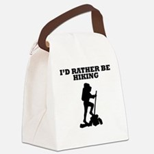 Id Rather Be Hiking Canvas Lunch Bag