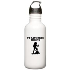 Id Rather Be Hiking Water Bottle