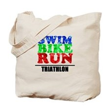 Multi-color triathlon Tote Bag
