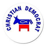 Christian democrat Round Car Magnets
