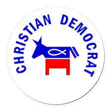 Christian Democrat Round Car Magnet