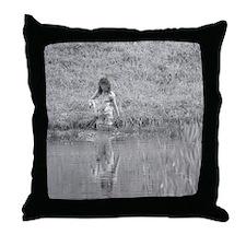 Ghost Girl #1 Throw Pillow