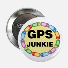 """GPS Junkie 2.25"""" Button (100 pack)"""