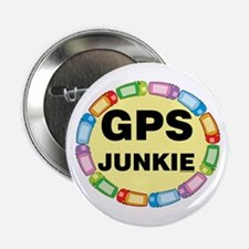 "GPS Junkie 2.25"" Button"
