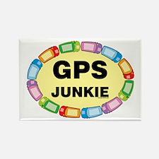 GPS Junkie Rectangle Magnet