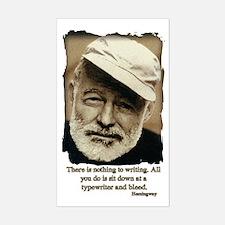 Hemingway3-Bleed Bumper Stickers