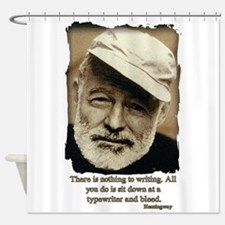 Hemingway3-Bleed Shower Curtain