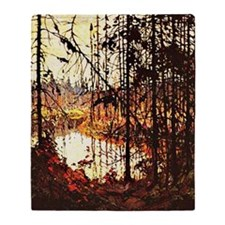 Tom Thomson - Northern River Throw Blanket
