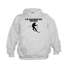 Id Rather Be Skiing Hoodie