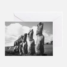 Easter Island Insanity Greeting Card
