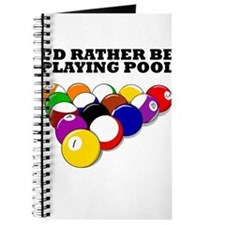 Id Rather Be Playing Pool Journal