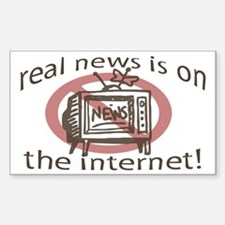 Real News on Internet Rectangle Decal