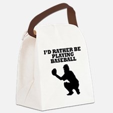 Id Rather Be Playing Baseball Canvas Lunch Bag