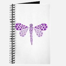 Cute Purple Pointillism Dragonfly Journal