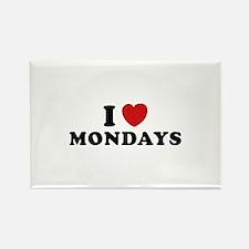 I Love Mondays Rectangle Magnet