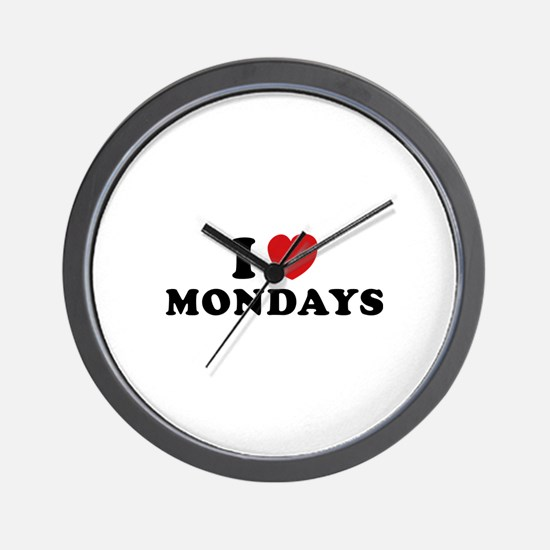 I Love Mondays Wall Clock