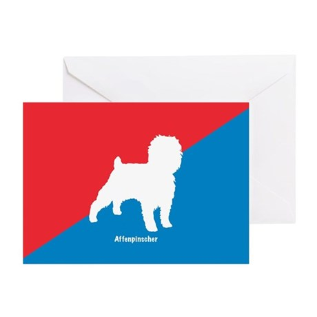 Affenpinscher White Greeting Cards (Pk of 10)