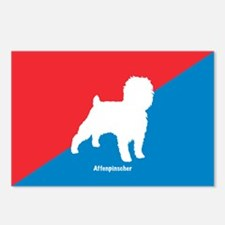 Affenpinscher White Postcards (Package of 8)
