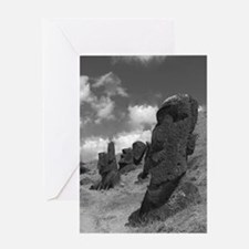 Easter Island Head with a Message Greeting Card