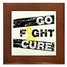 Ewings Sarcoma Go Fight Cure Framed Tile