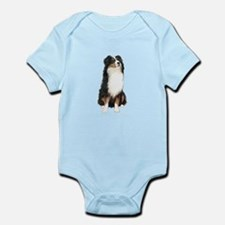 Australian Shep (tri) #2 Infant Bodysuit