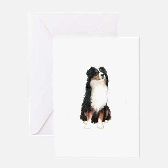 Australian Shep (tri) #2 Greeting Card
