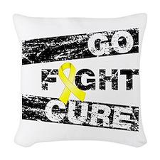 Endometriosis Go Fight Cure Woven Throw Pillow