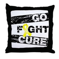 Endometriosis Go Fight Cure Throw Pillow