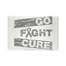 Diabetes Go Fight Cure Rectangle Magnet