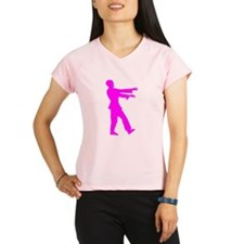 Pink Zombie Silhouette Performance Dry T-Shirt