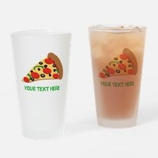 Pizza Lover Personalized Drinking Glass