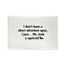 Short Attention Span Rectangle Magnet
