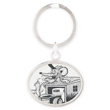 RELAXING  Oval Keychain