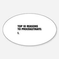 Procrastinate Decal