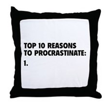 Procrastinate Throw Pillow