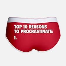 Procrastinate Women's Boy Brief