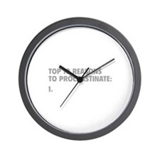 Procrastinate Wall Clock