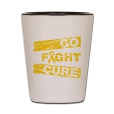 Childhood Cancer Go Fight Cure Shot Glass