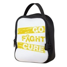 Childhood Cancer Go Fight Cure Neoprene Lunch Bag
